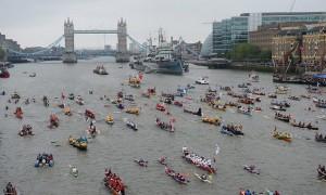 La flotilla del Jubileo de Diamante de 2012