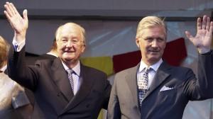 Los reyes Alberto y Felipe de Bélgica