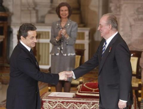 Don Juan Carlos concede el Toison de Oro a Sarkozy