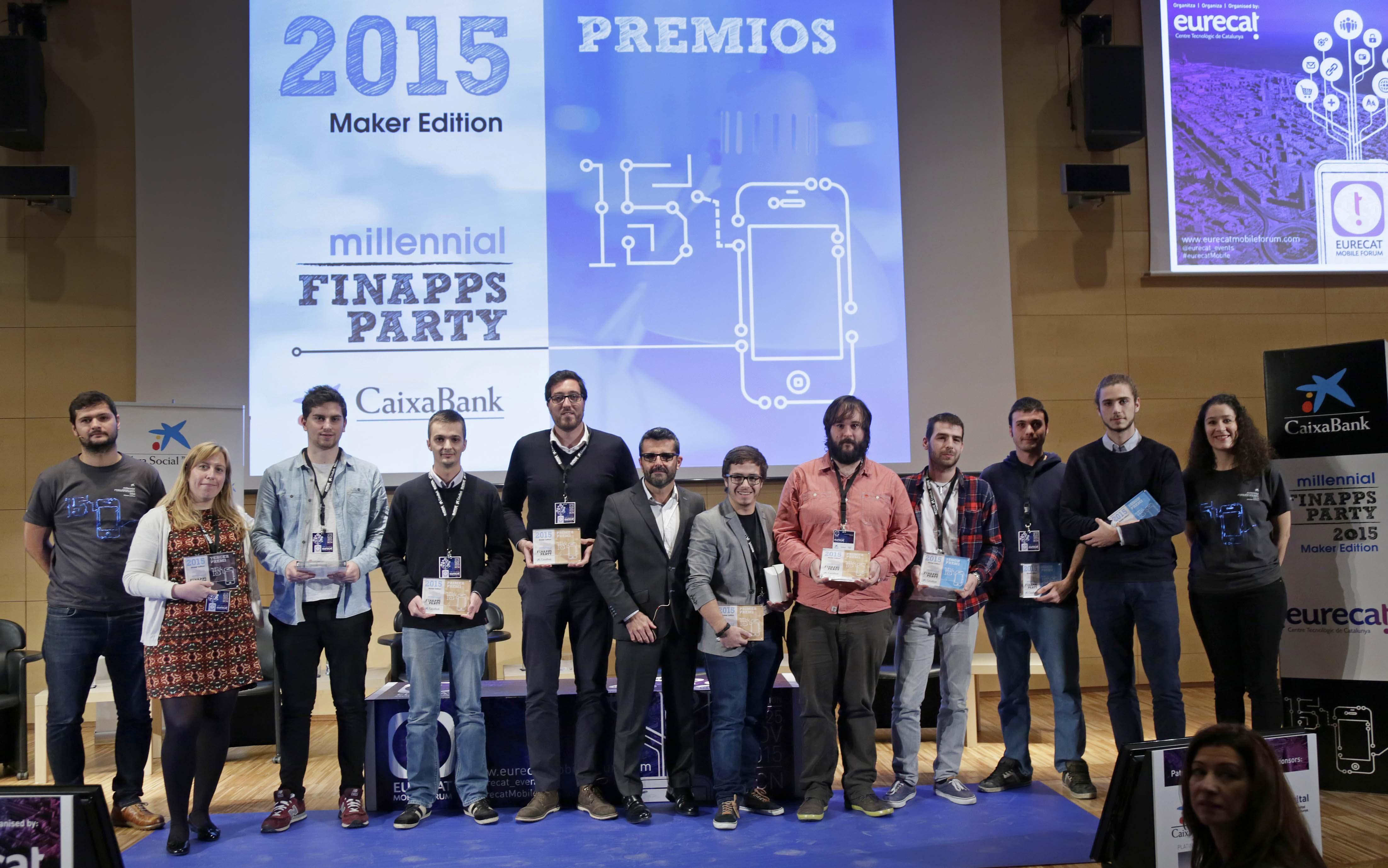 Entrega de premios FinAppsParty 2015 de CaixaBank