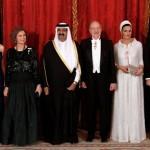 Cena de gala en Madrid con el viejo emir y la jequesa  Mozah