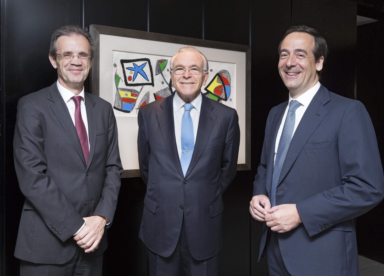 Jordi Gual, Isidro Fainé y Gonzalo Gortázar