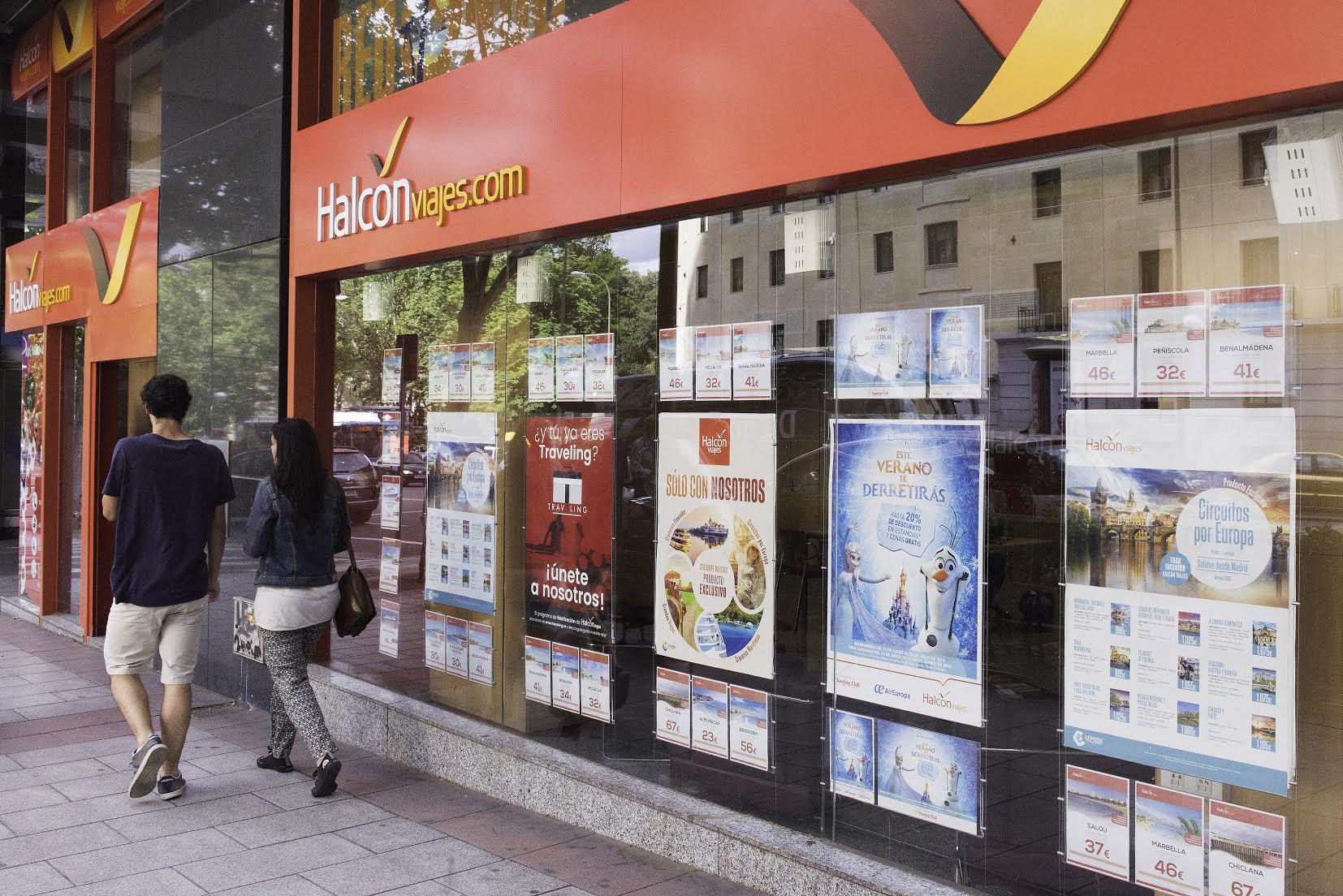 Oficina de Halcón Viajes.Calle Princesa, Madrid.