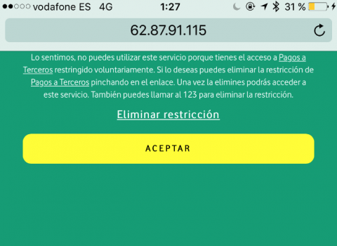 Aplicacion bloqueada Unidad Editorial