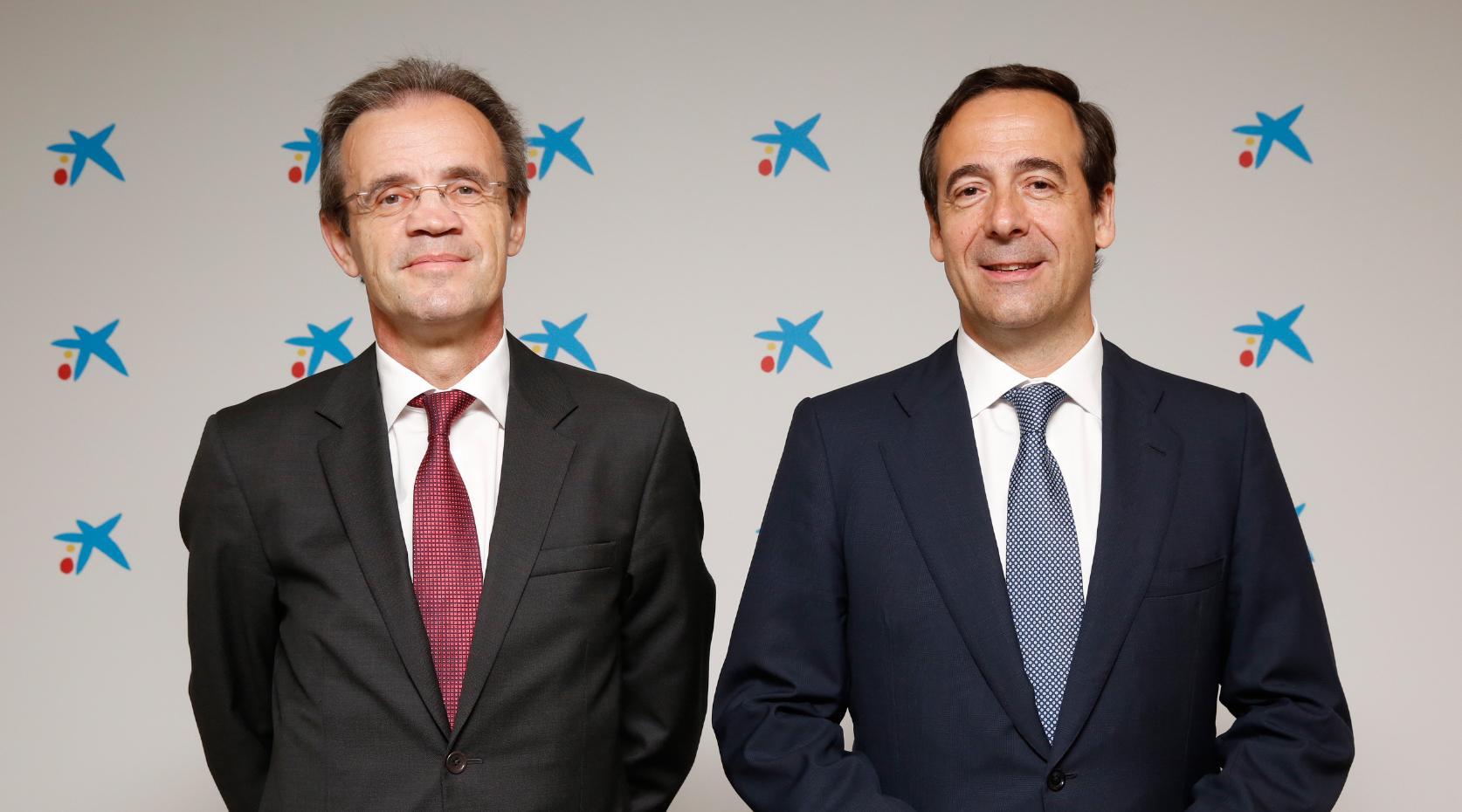 jordi-gual-presidente-de-caixabank-y-gonzalo-gortazar-consejero-delegado-de-caixabank