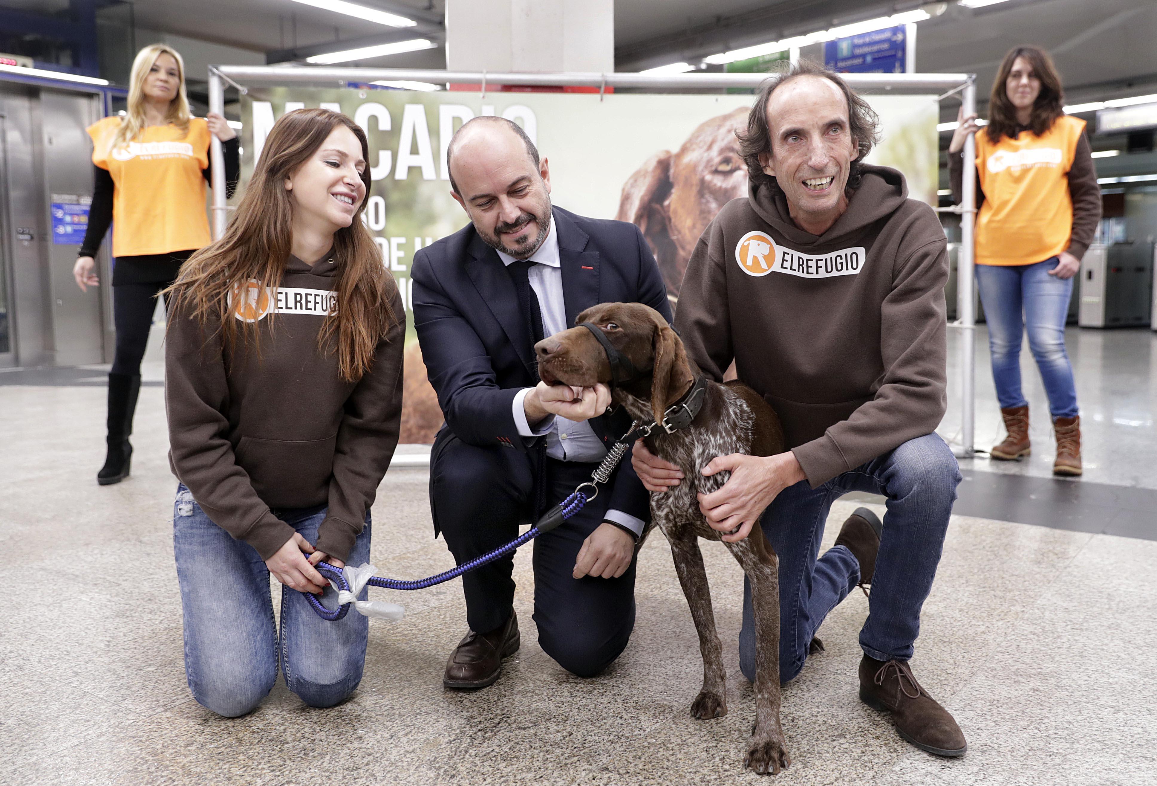 """ROLLÁN PRESENTA EL CALENDARIO DE ACTIVIDADES DE METRO Y LA ASOCIACIÓN PARA LA PROTECCIÓN DE ANIMALES, EL REFUGIO El consejero de transportes, Vivienda e Infraestructuras de la Comunidad de Madrid, Pedro Rollán, presenta el calendario de actividades programado entre Metro de Madrid y la Asociación para la protección de animales """"El Refugio"""" para concienciar sobre el abandono y el maltrato animal.   Foto: D.Sinova / Comunidad de Madrid"""
