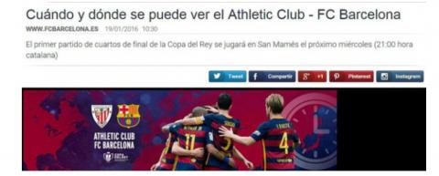 FC Barcelona hora catalana