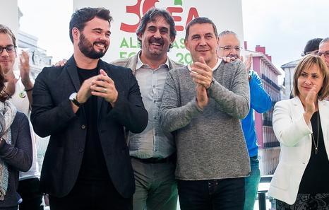2016-09-18. Bilbo. EA alderdiaren 30. urteurrena ospatzeko ekitaldia.  18-09-2016. Bilbao. 30 aniversario de EA, intervendrán Pello Urizar y Gabriel Rufián.