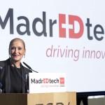 """CIFUENTES PRESENTA MADRIDTECH  La presidenta de la Comunidad de Madrid, Cristina Cifuentes, presenta """"MadrIDtech"""", una iniciativa impulsada por la Comunidad de Madrid para posicionar a la región como polo de innovación a la cabeza del desarrollo tecnológico europeo. MadrIDtech permitirá conectar a todos los agentes que componen el ecosistema de la innovación para potenciar los recursos de la región en materia de I+D+i.   Foto. D. Sinova"""