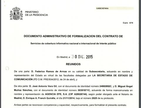 Contrato EFE Estado