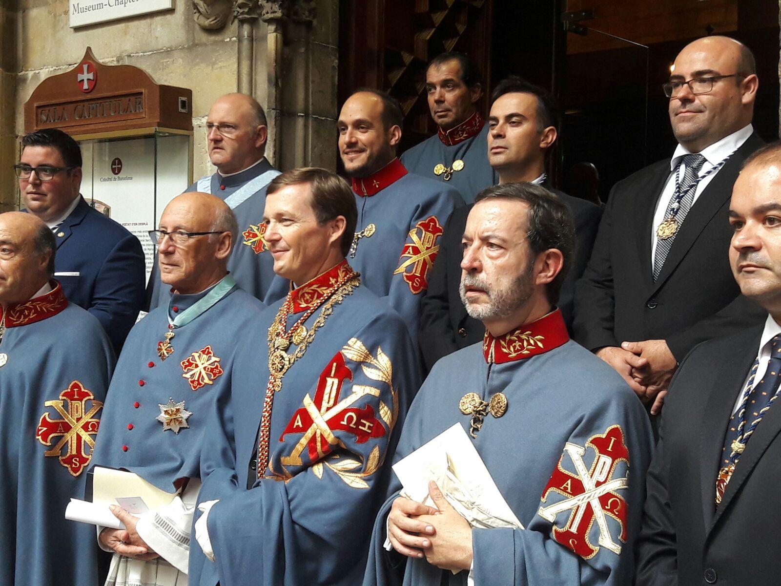 El duque de Calabria en la catedral de Barcelona el 30 de septiembre