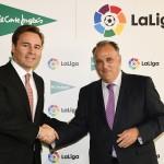 Firma Dimas Gimeno (El Corte Inglés) y Javier Tebas (LaLiga)