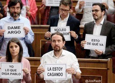 Pablo Iglesias cartelitos