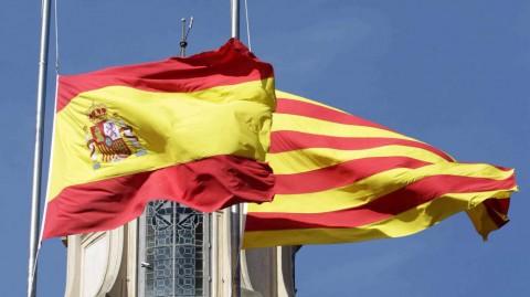 banderas cataluña españa