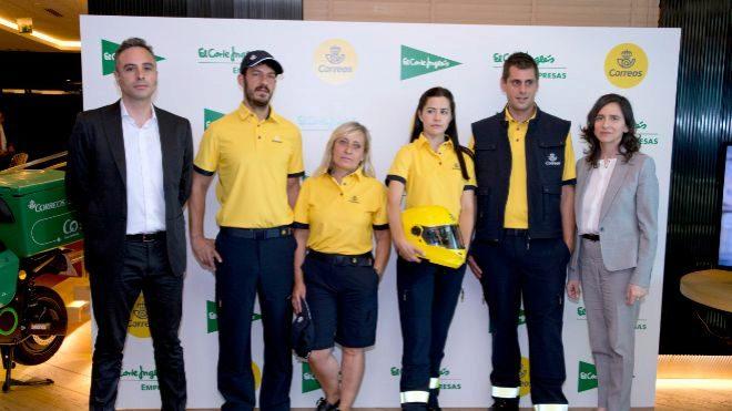fa02f202b15 Los uniformes se han personalizado con la nueva imagen corporativa de  Correos. El acuerdo entre El Corte Inglés ...